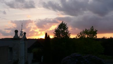 Photo of De zonsondergang